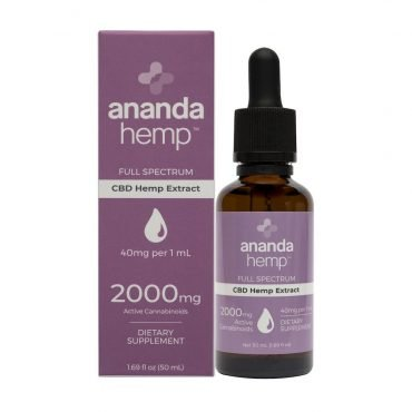 Ananda Hemp Full Spectrum 2000 CBD Oil
