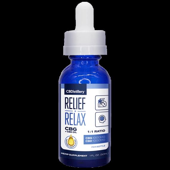 CBDistillery Relief Relax CBG and CBD Oil Tincture