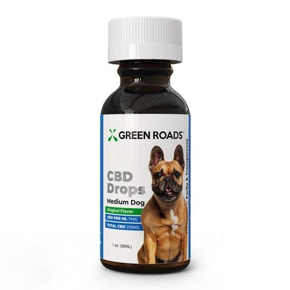 Green Roads CBD Drops For Medium Dogs