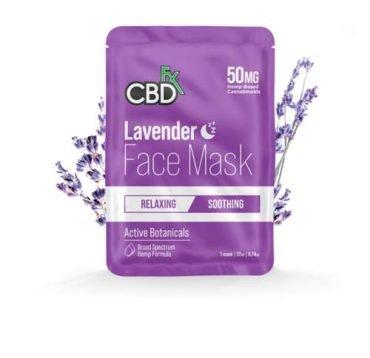CBDfx CBD Lavender face mask