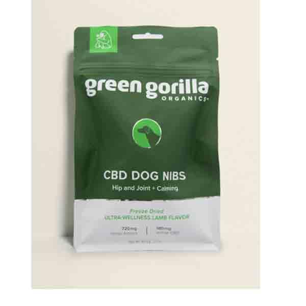 Green Gorilla Freeze-Dried CBD Dog Nibs